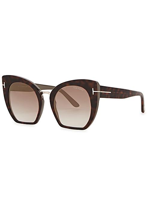 22264768a Tom Ford Eyewear Samantha tortoiseshell cat-eye sunglasses - Harvey ...