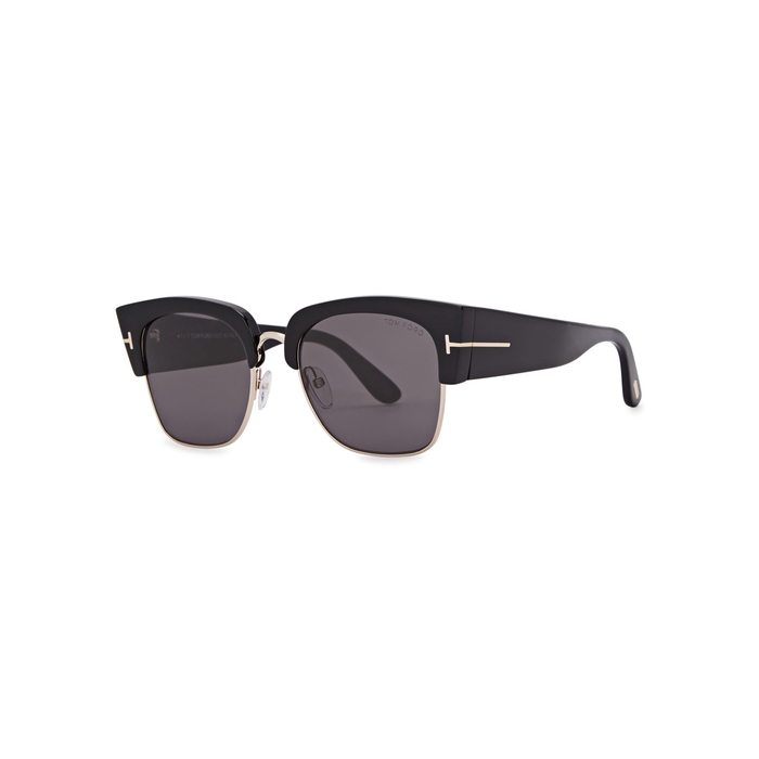 6209848ffa Tom Ford Eyewear Dakota Black Clubmaster-style Sunglasses