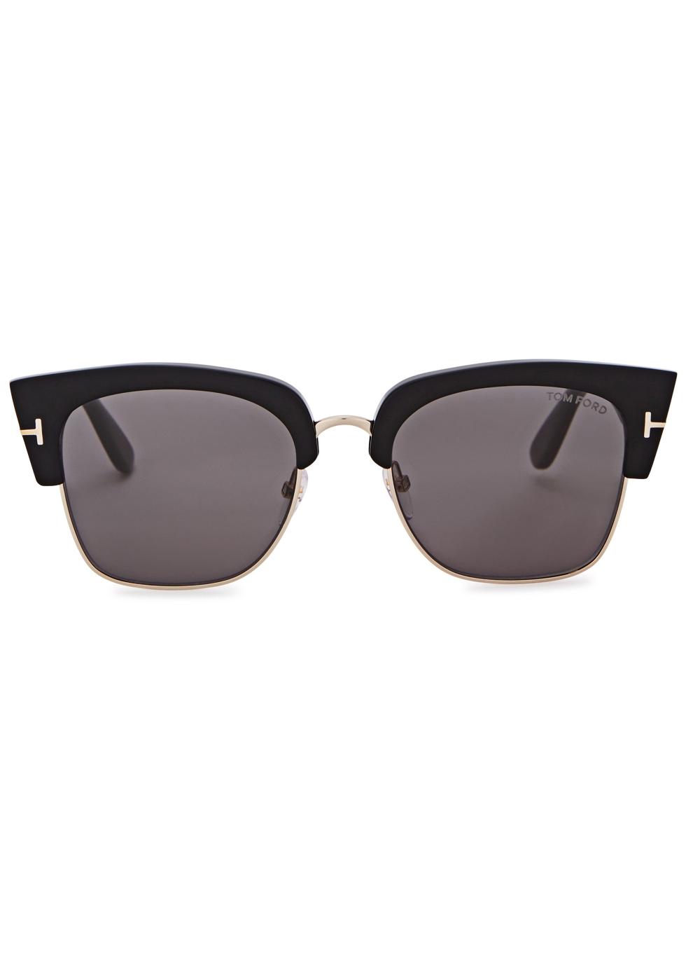 Dakota black clubmaster-style sunglasses - Tom Ford Eyewear