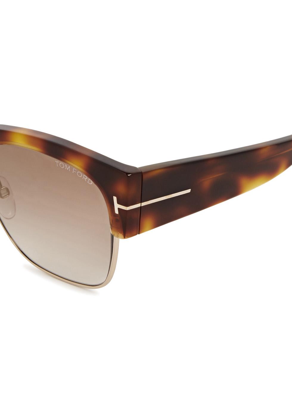 Dakota tortoiseshell clubmaster-style sunglasses - Tom Ford Eyewear