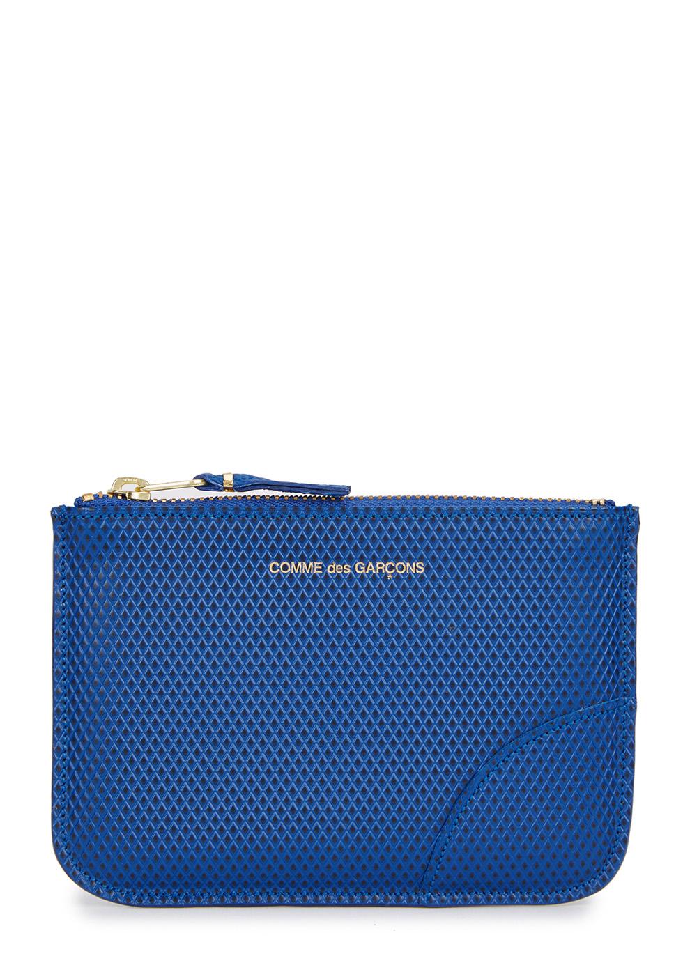 Small blue leather pouch - Comme des Garçons