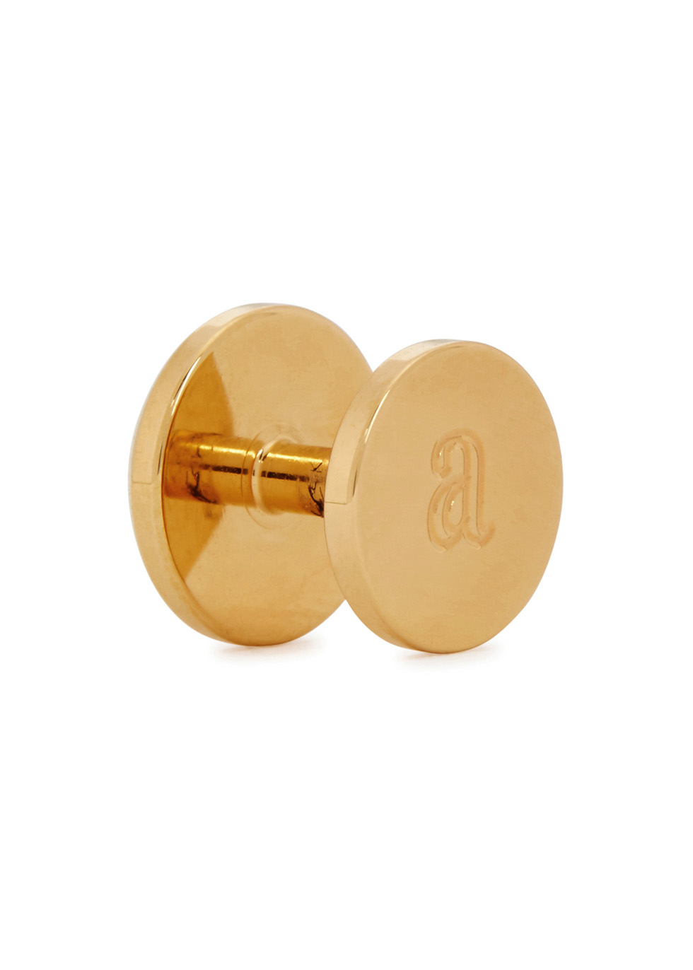 James 24kt gold-plated tuxedo studs - Alice Made This