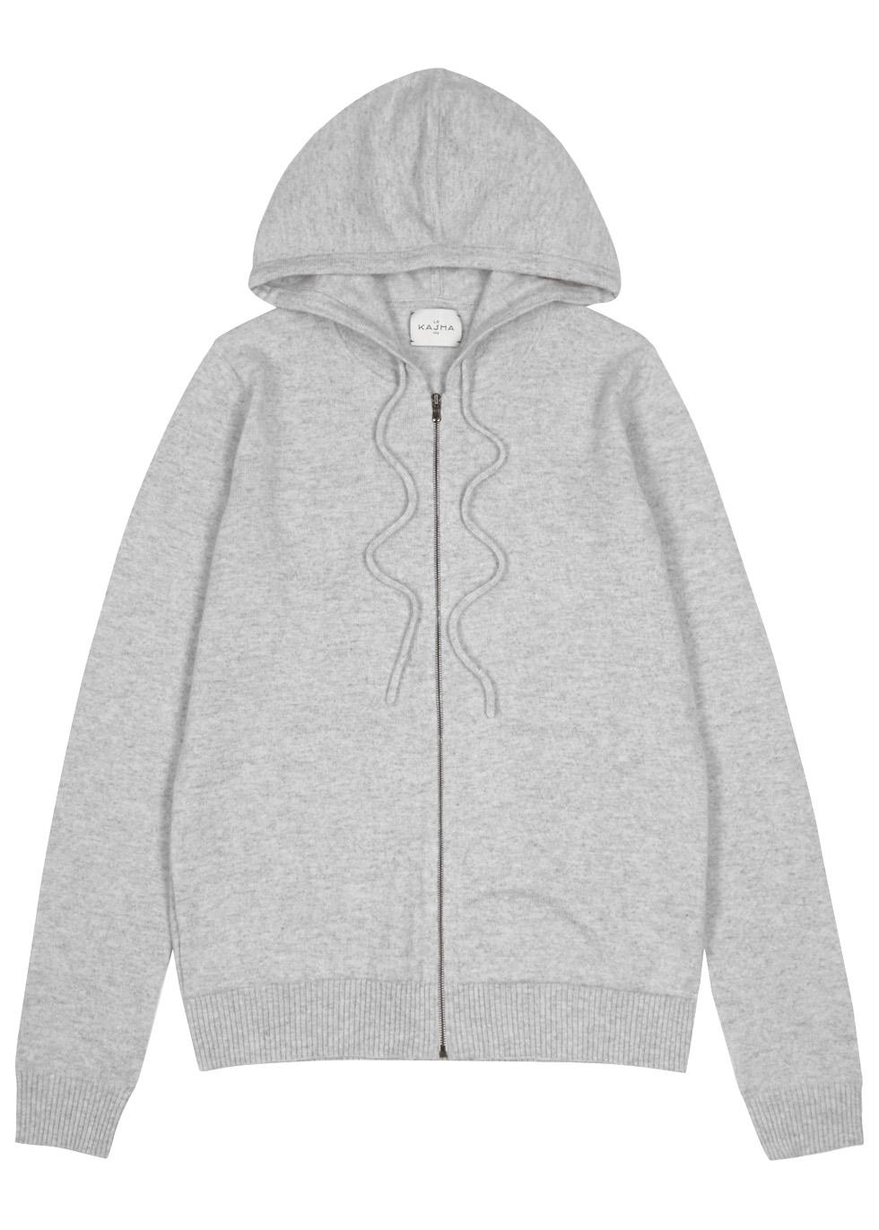 Jaipur hooded cashmere jumper - Le Kasha