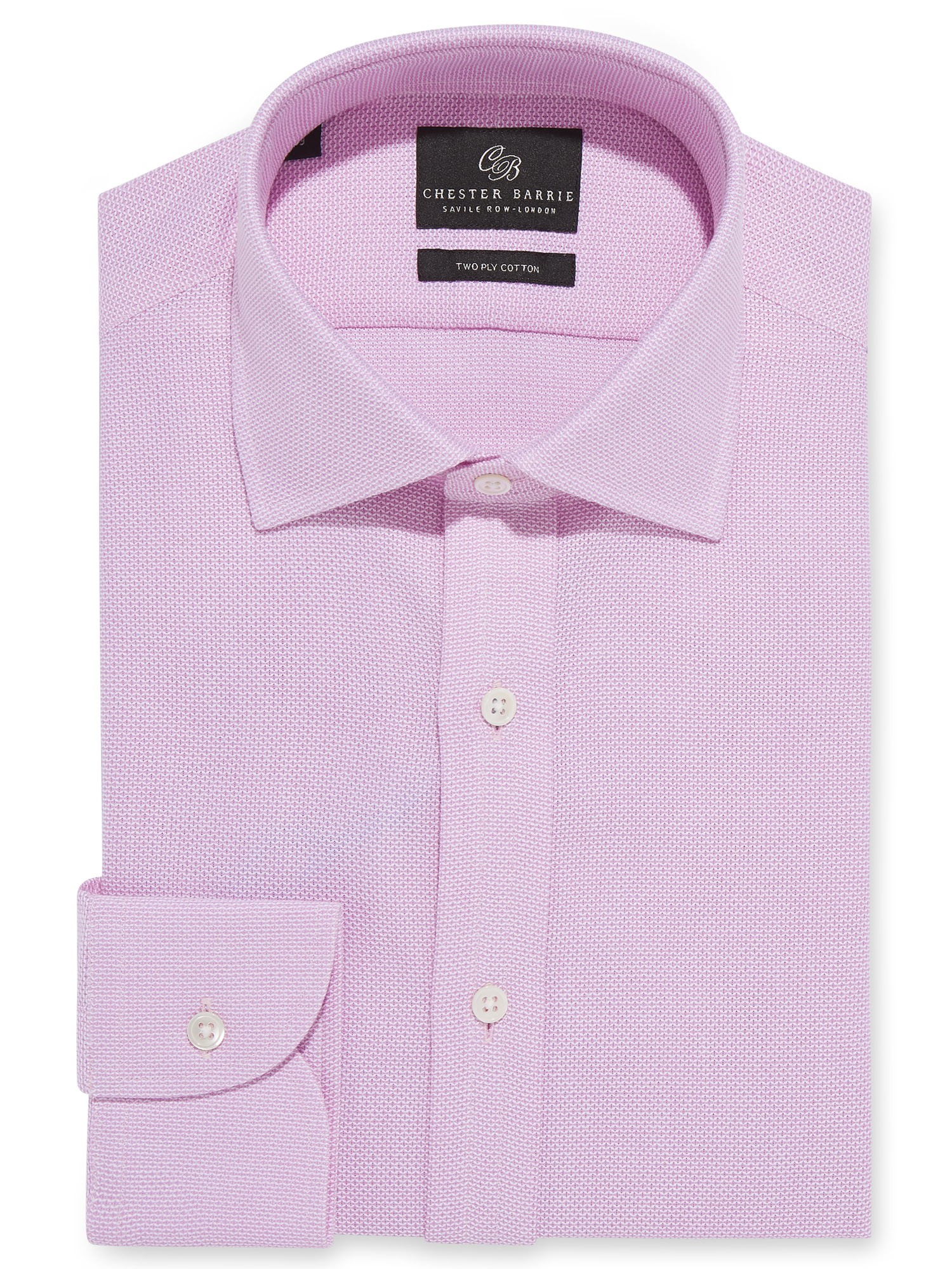 CHESTER BARRIE PINK SOFT LENO SHIRT