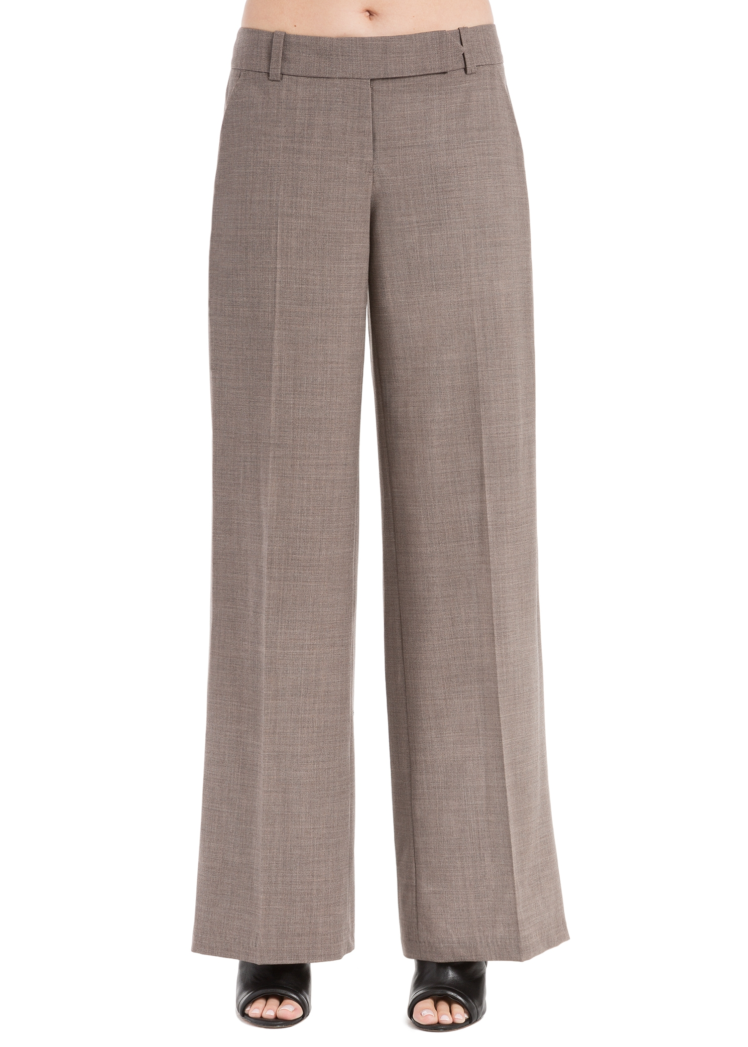 LEON MAX TROPICAL WOOL WIDE-LEG TROUSERS