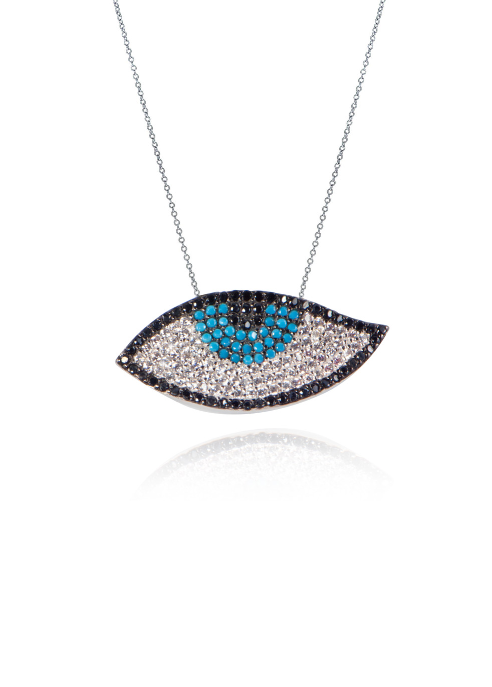 LUCKY CHARM EVIL EYE NECKLACE