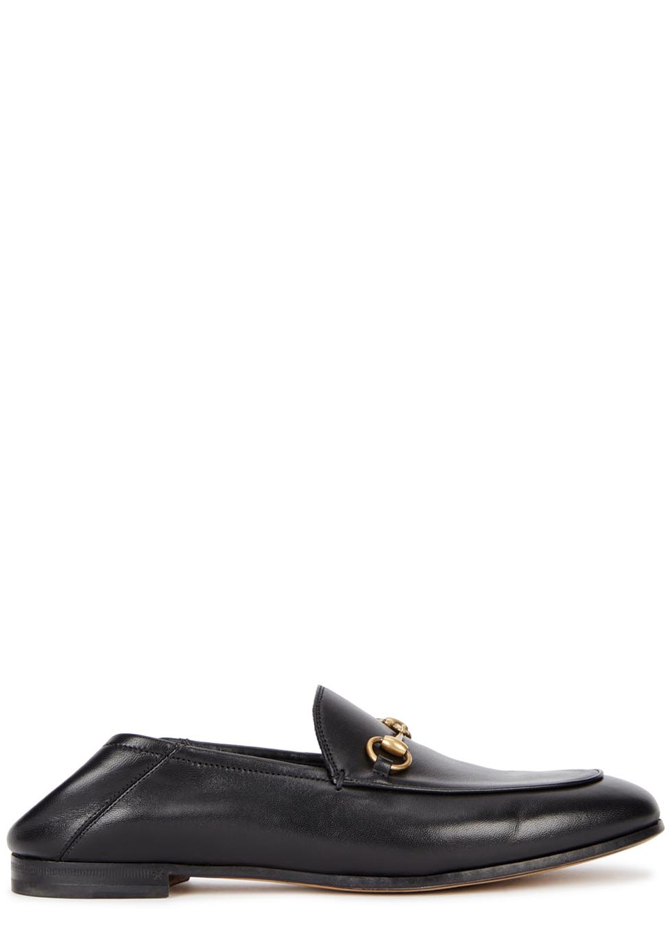 Brixton black horsebit leather loafers