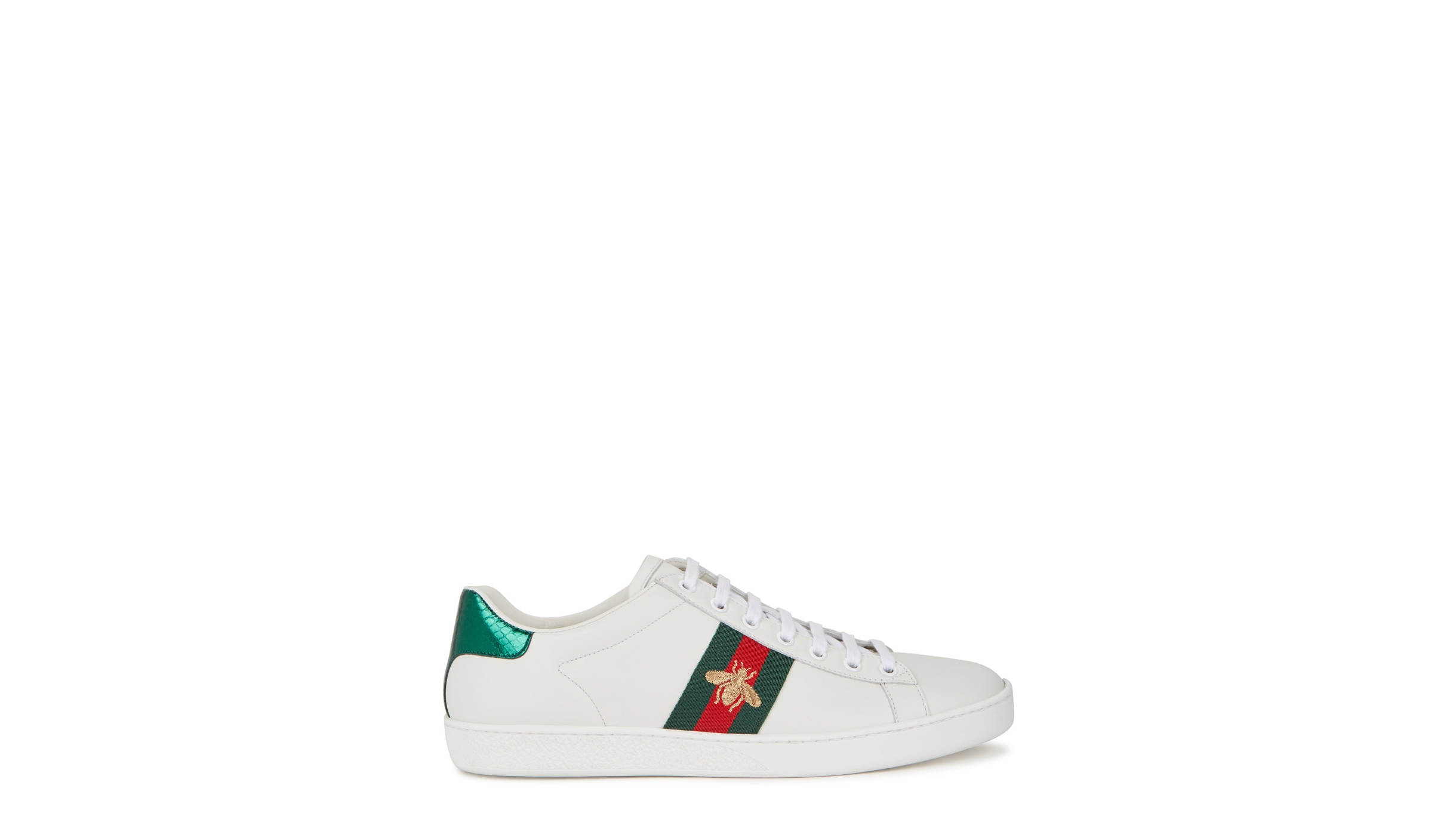 bd5fbcade1 Ace embroidered white leather sneakers