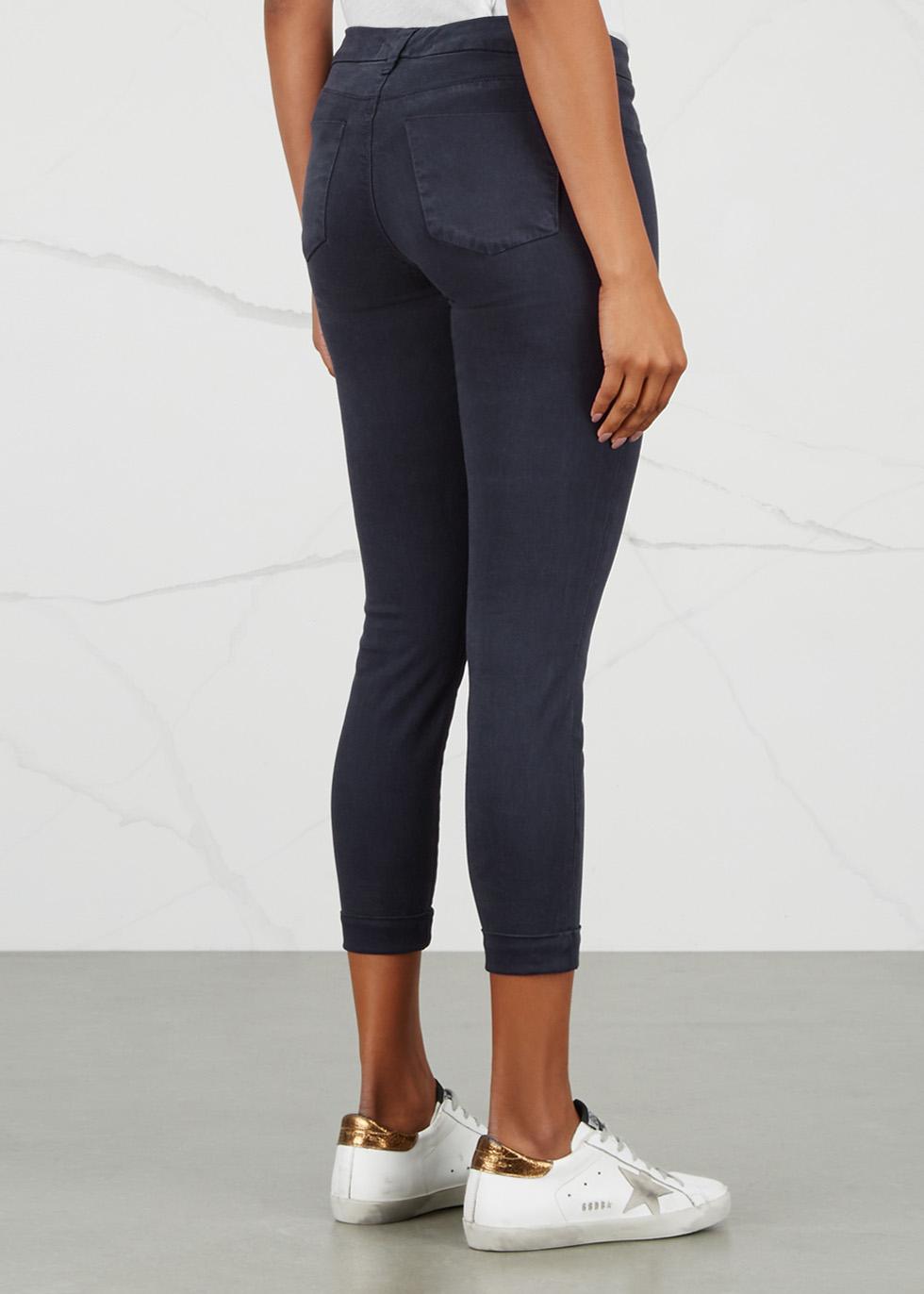 Anja navy cropped skinny jeans - J Brand