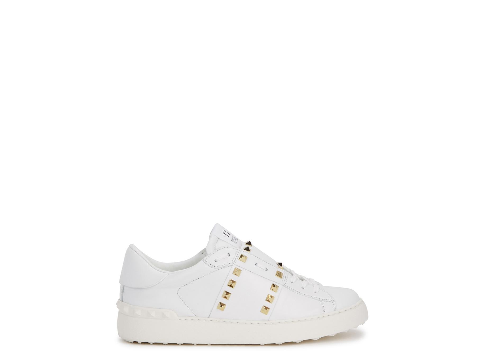 e917a0837e395 Valentino Garavani Rockstud Untitled 11 leather sneakers - Harvey ...