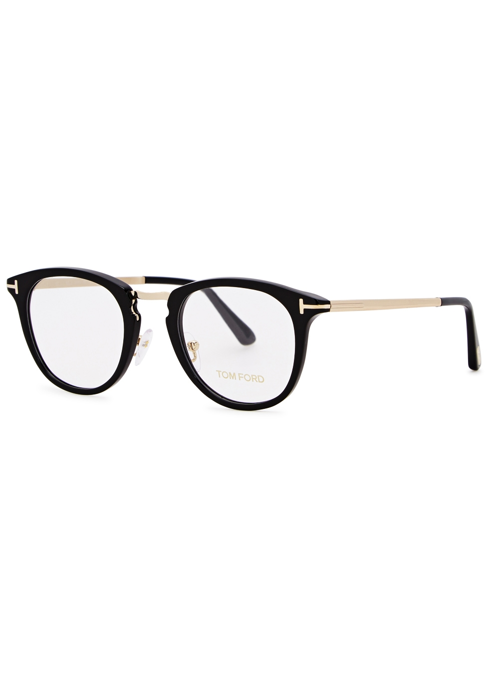 BLACK OVAL-FRAME OPTICAL GLASSES