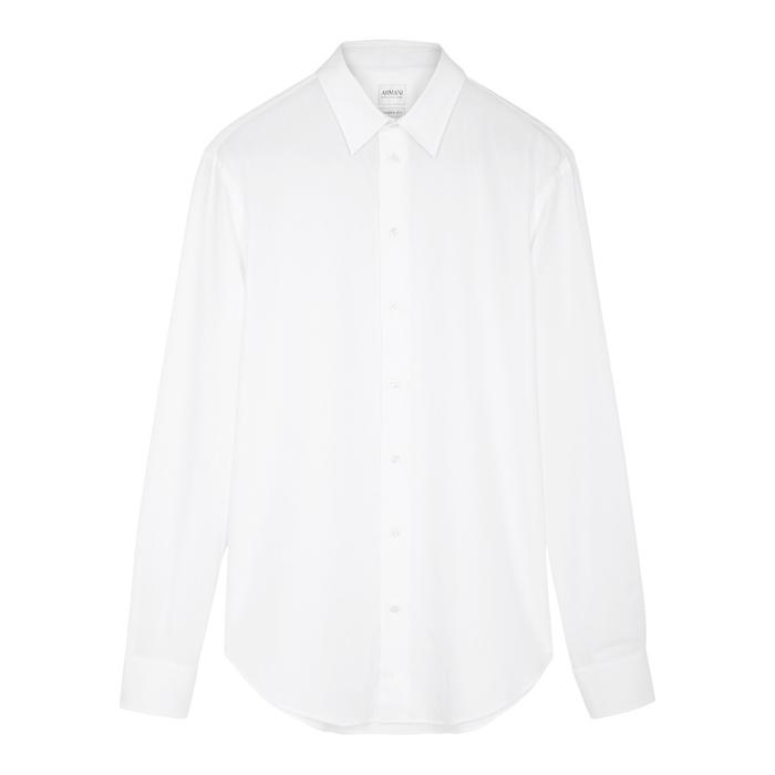 Armani Collezioni White Cotton Shirt