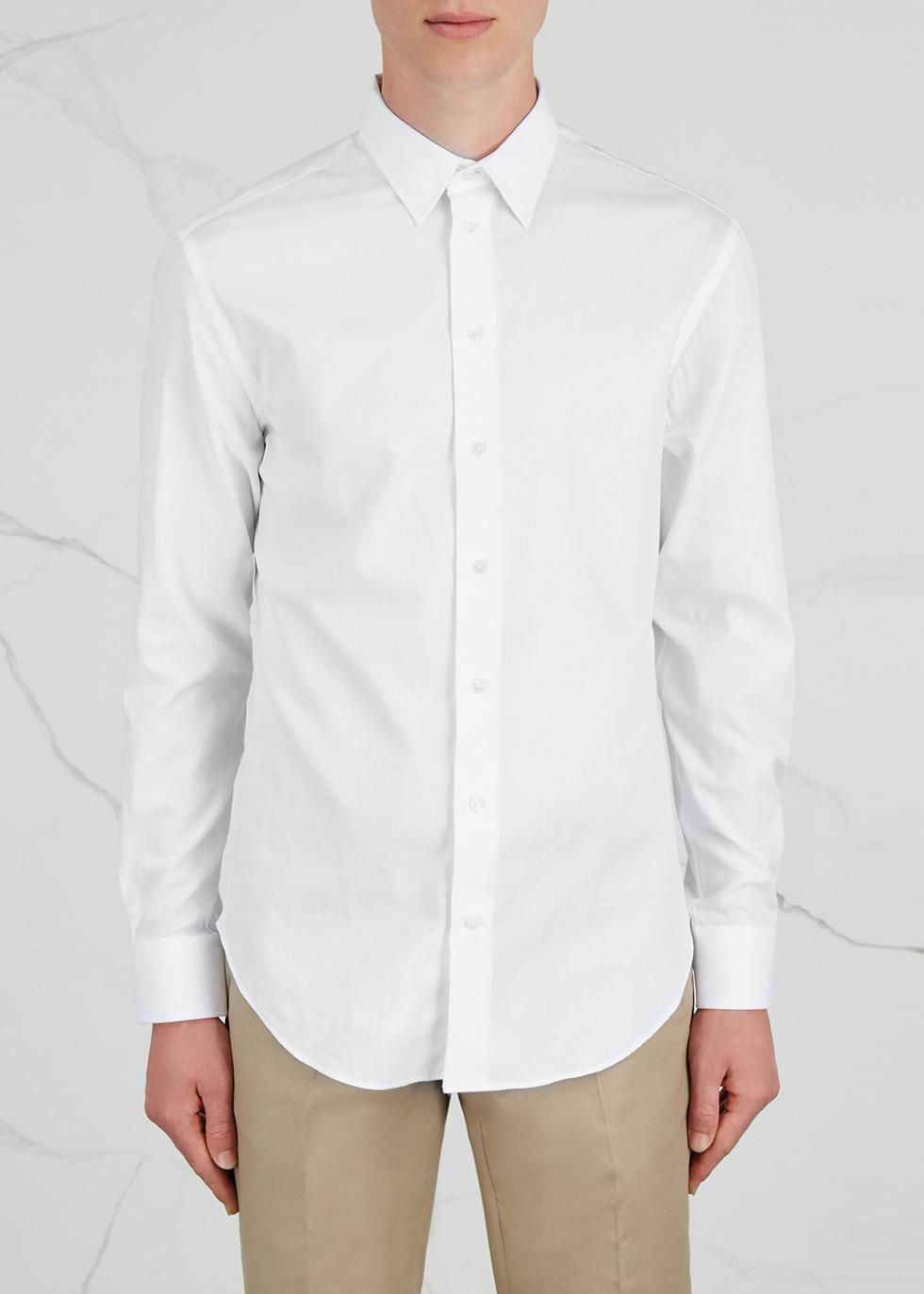 White cotton shirt - Emporio Armani
