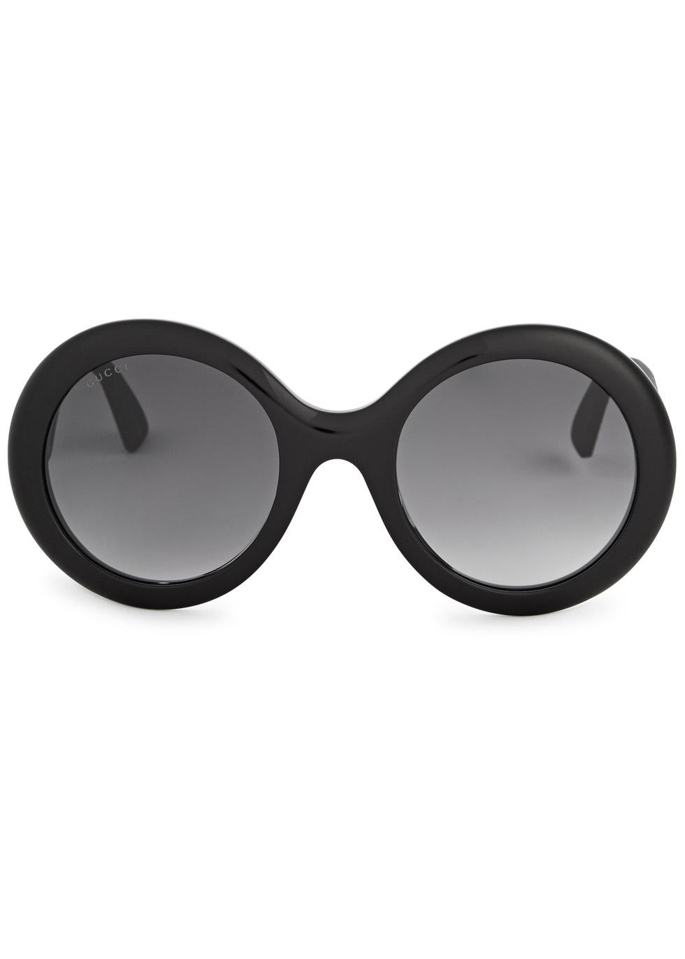Black glittered oversized sunglasses - Gucci