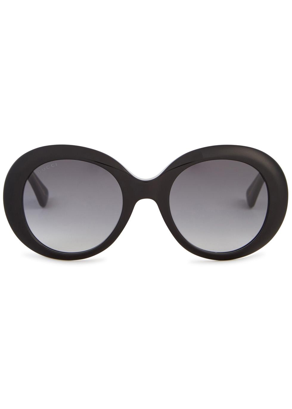 Black round-frame sunglasses - Gucci