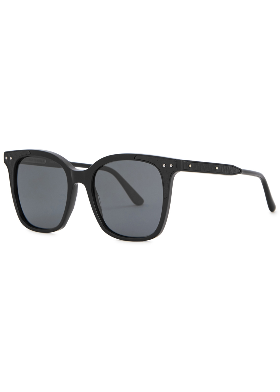 Black square-frame sunglasses - Bottega Veneta