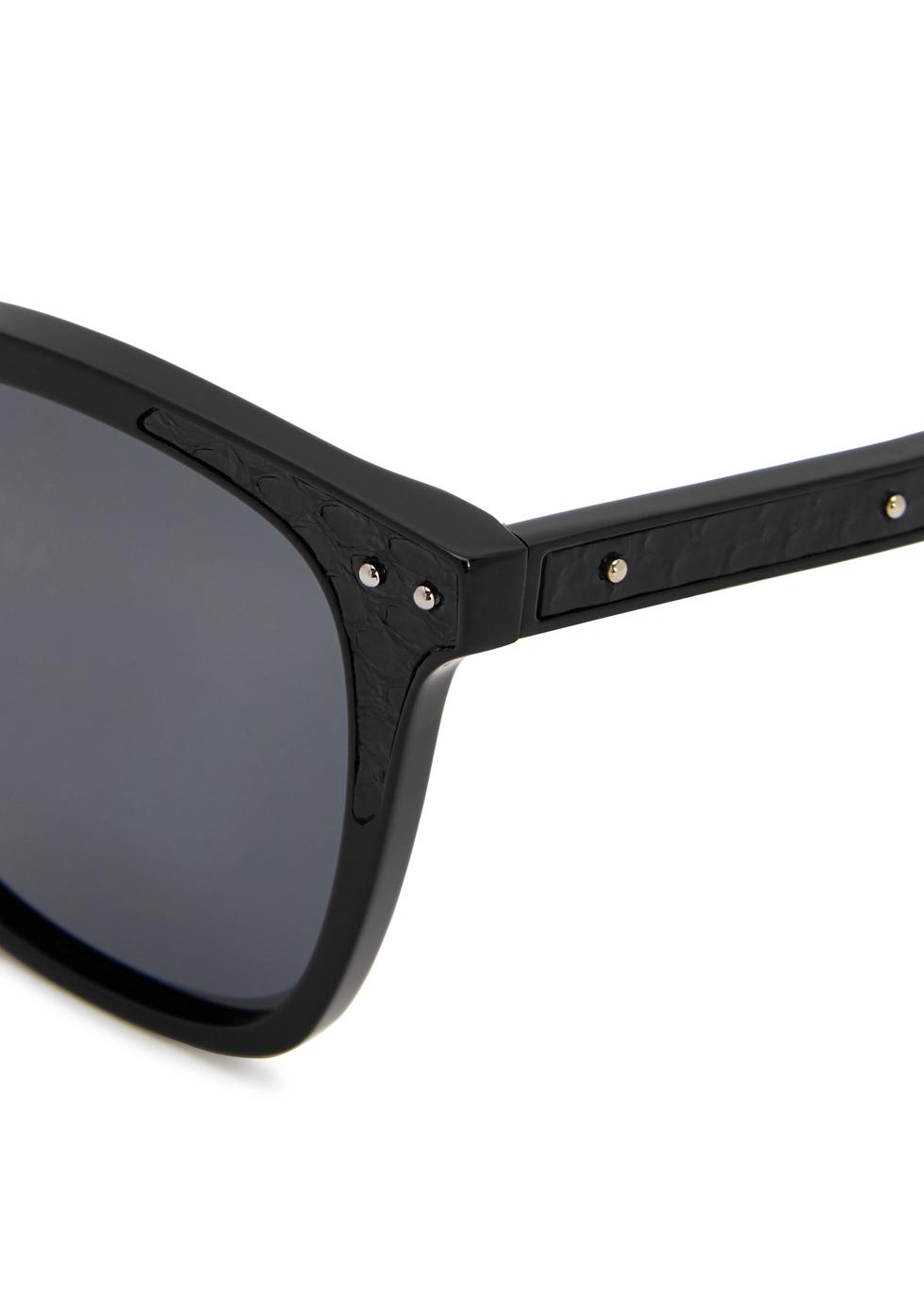 Black square-frame sunglasses - Bottega Veneta