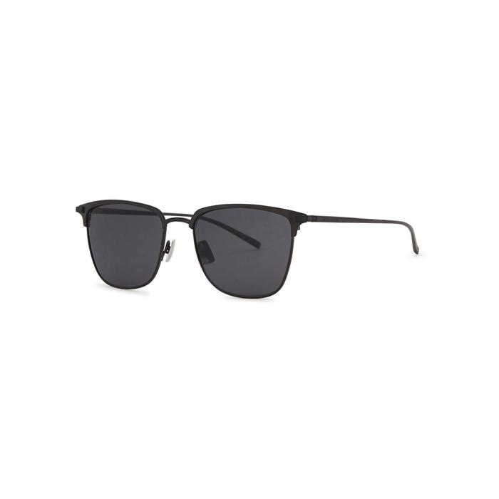 Saint Laurent SL150T Black Clubmaster-style Sunglasses