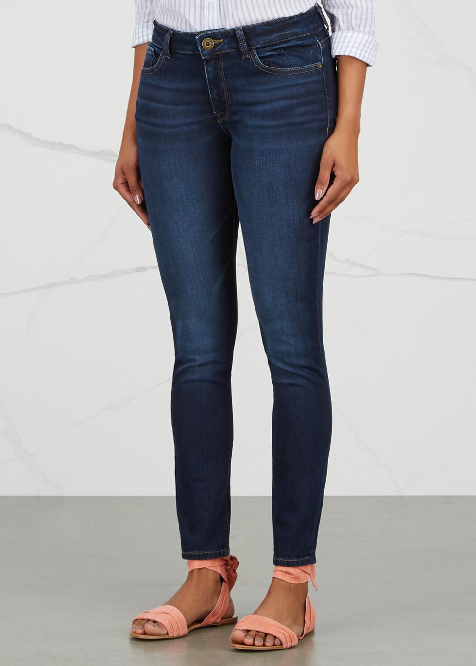 Florence Instasculpt dark blue skinny jeans - DL1961