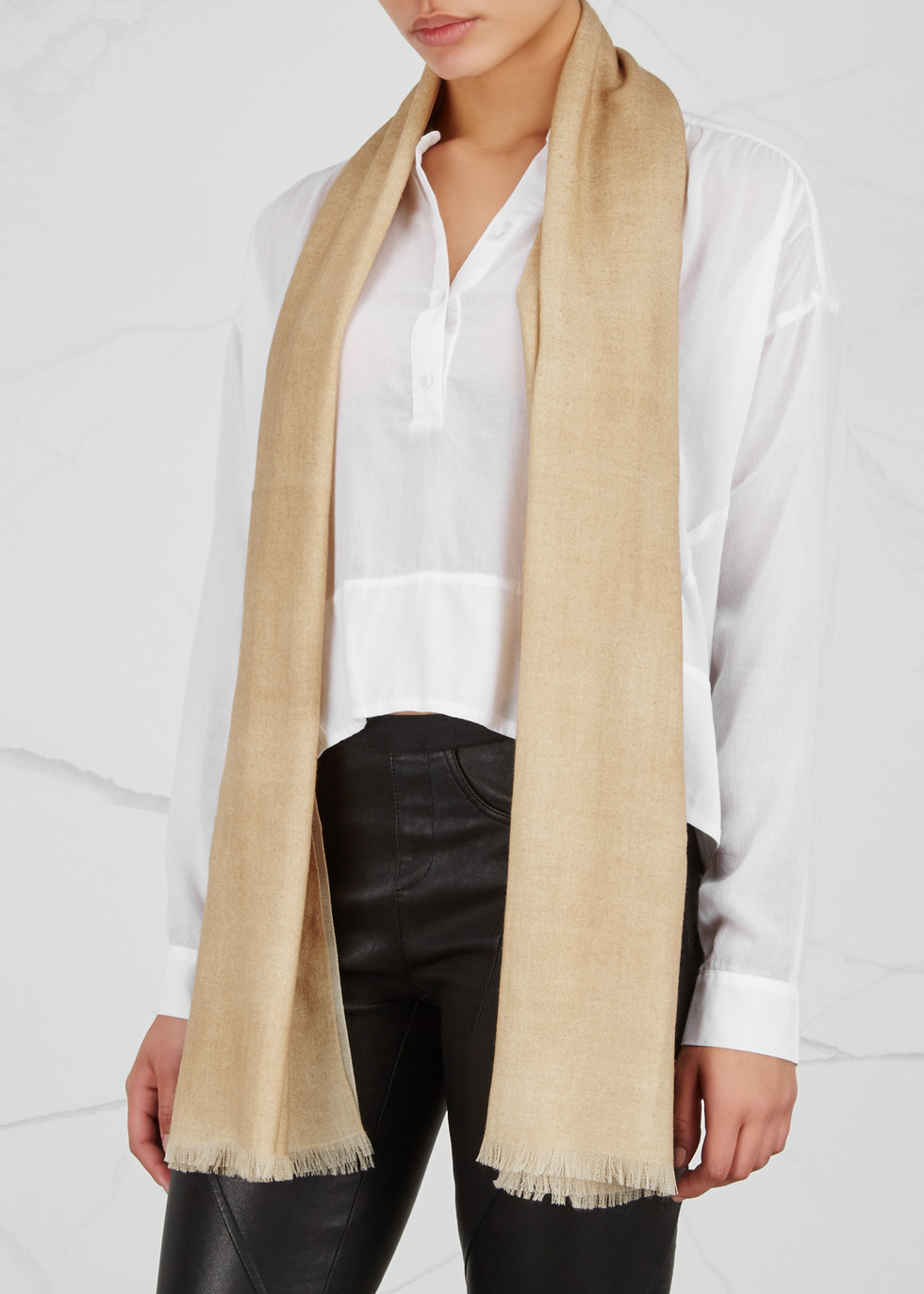 Sand wool scarf - AMA Pure