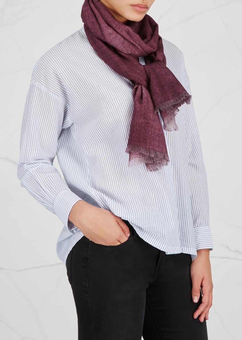 Burgundy wool scarf - AMA Pure