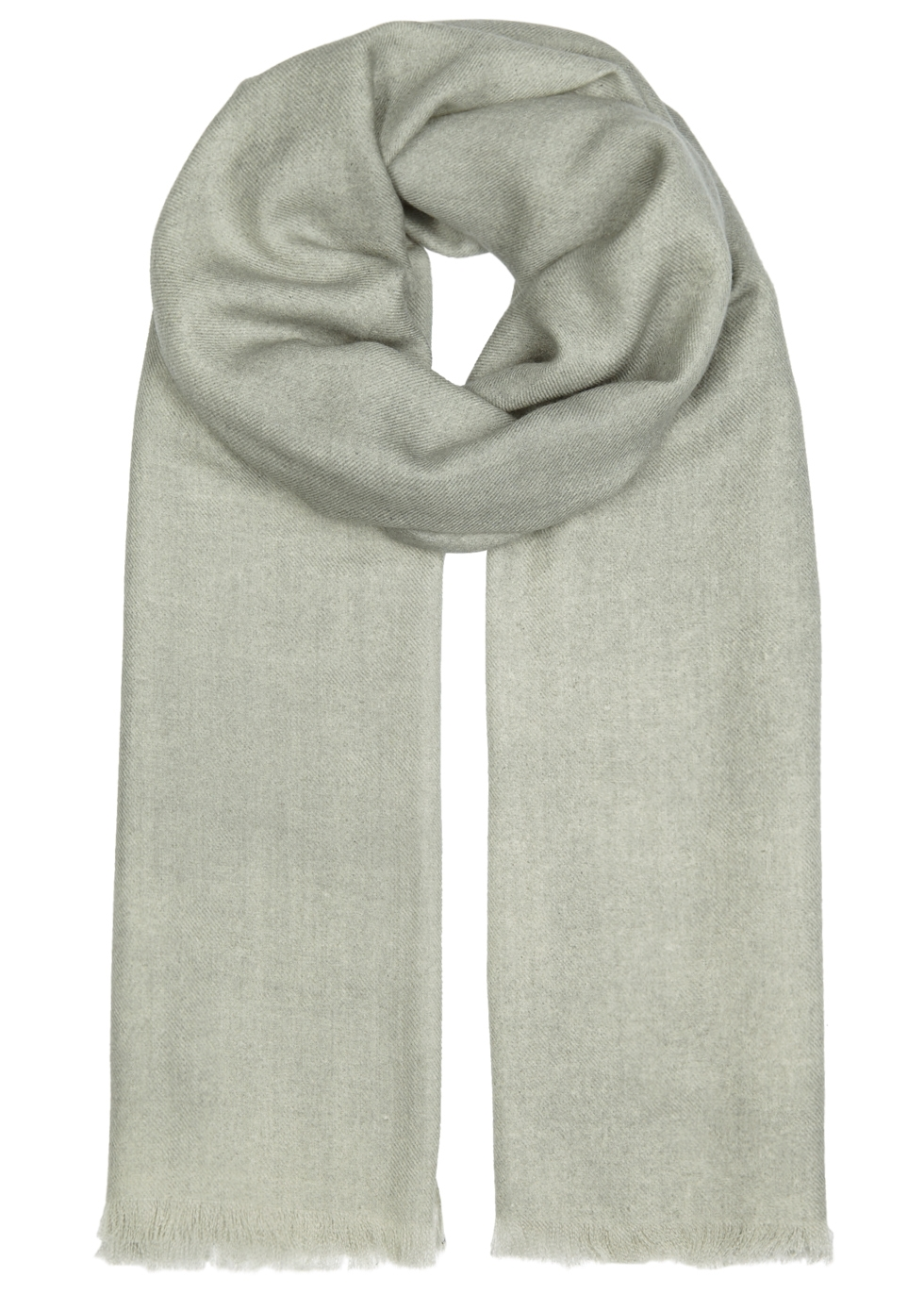 AMA PURE Light Grey Wool Scarf