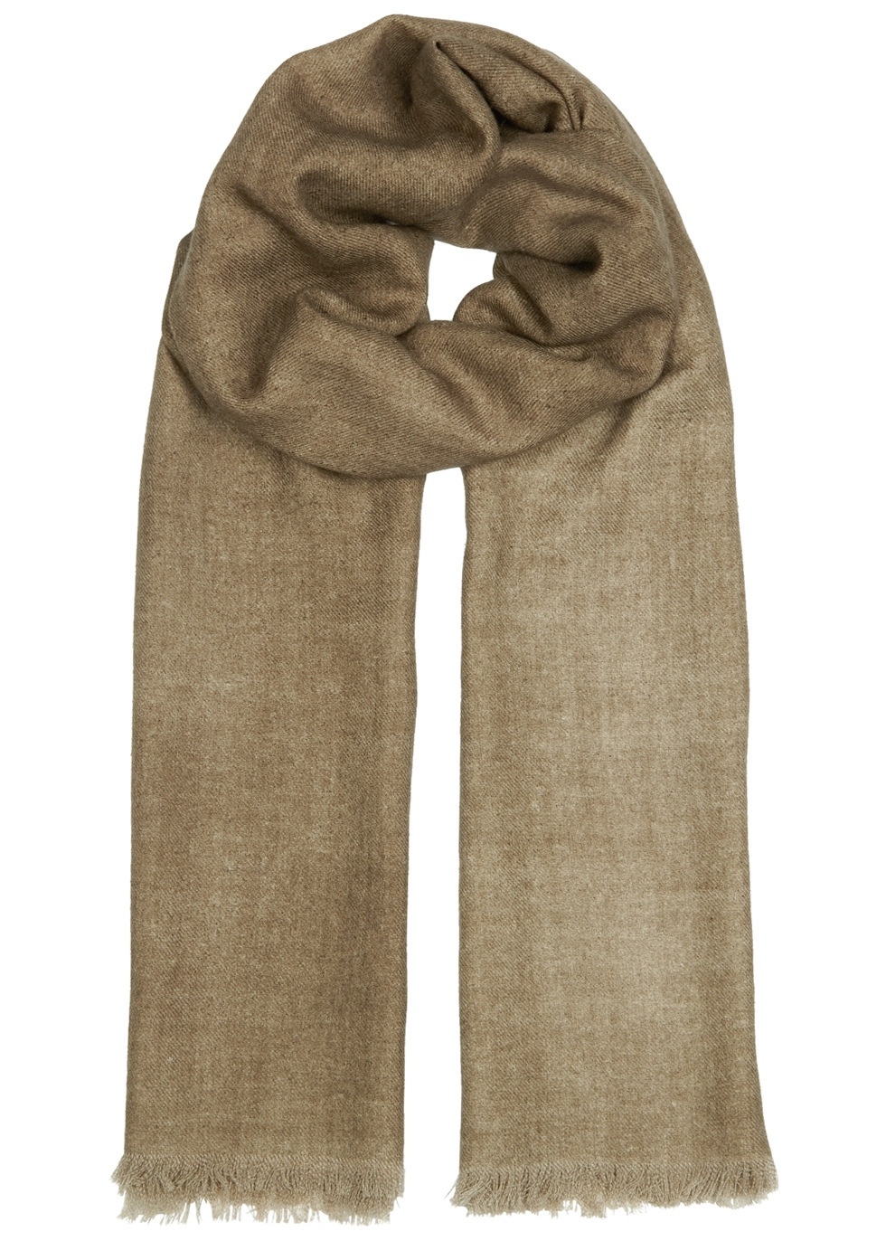 AMA PURE Olive Wool Scarf