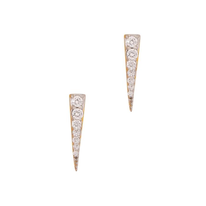 Missoma 18CT GOLD VERMEIL DAGGER EARRINGS
