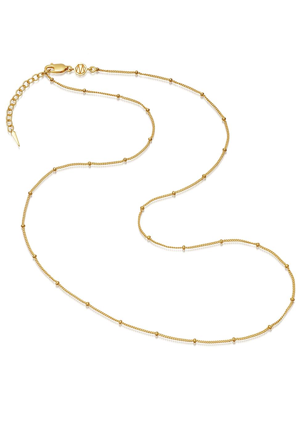 Medium 18kt gold vermeil beaded necklace - Missoma