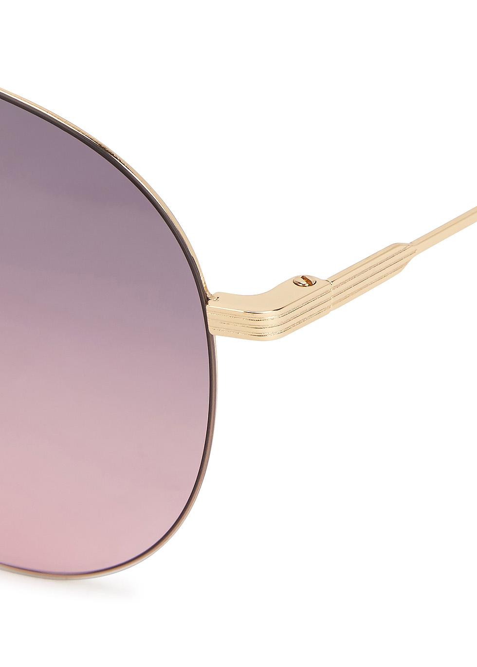 Classic Victoria Feather aviator-style sunglasses - Victoria Beckham