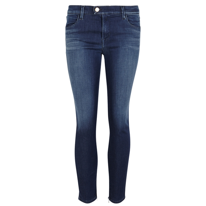 Replay INDIGO CROPPED TOUCH SKINNY JEANS