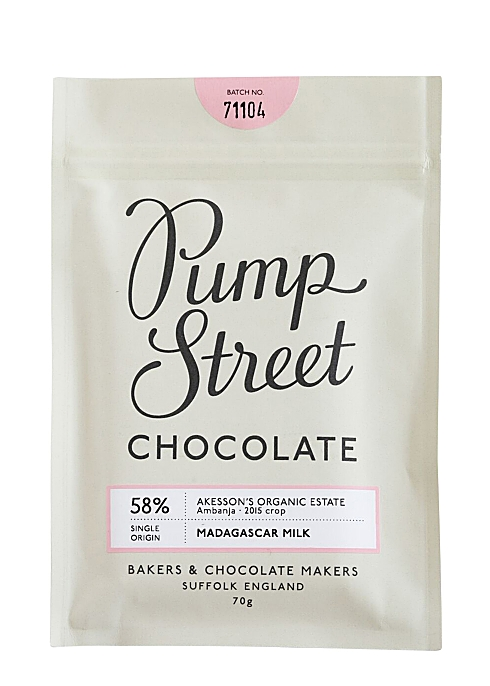 Pump Street Bakery Madagascar Milk Chocolate Bar 58 70g