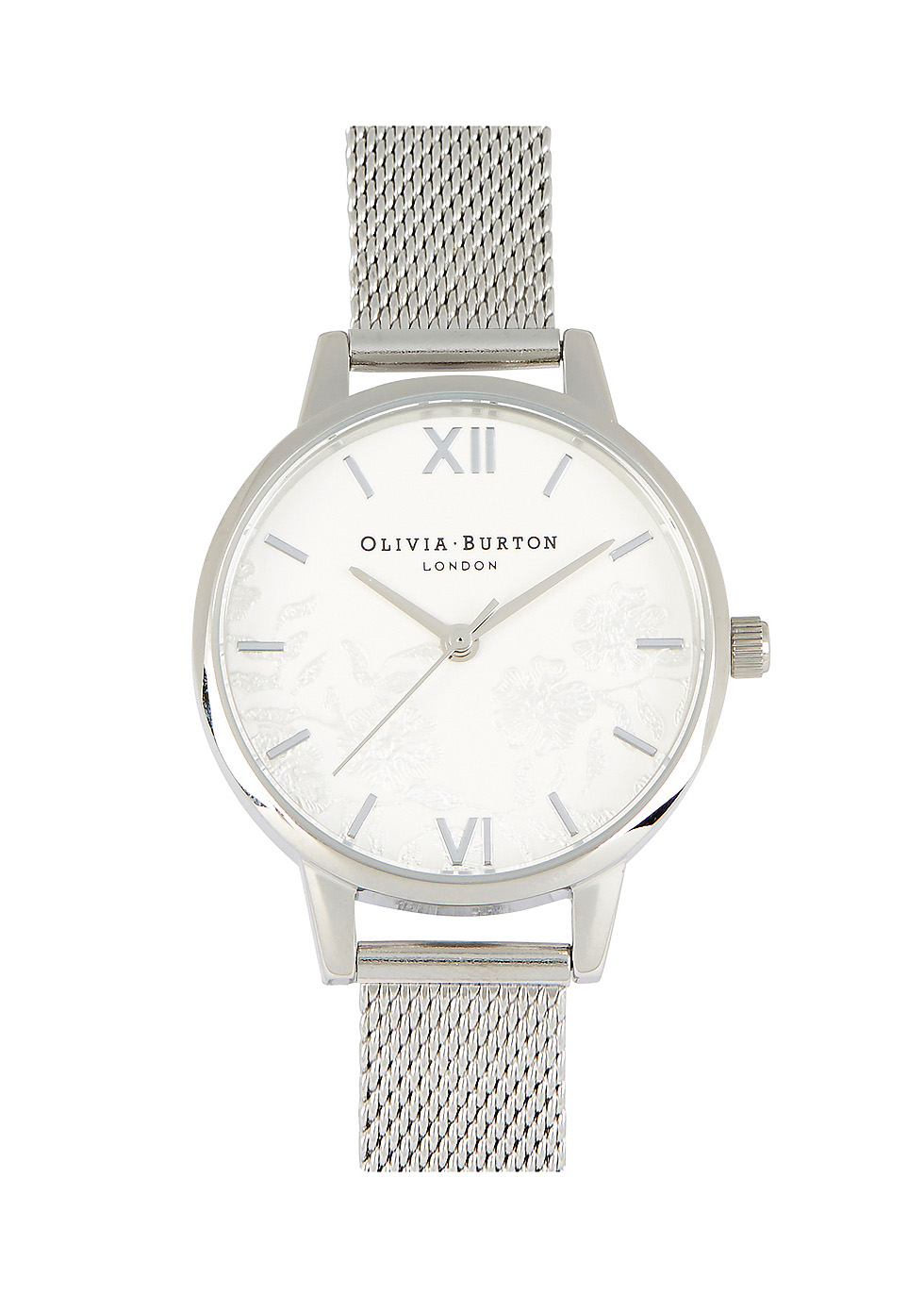 Lace MIdi Dial silver-plated watch - Olivia Burton