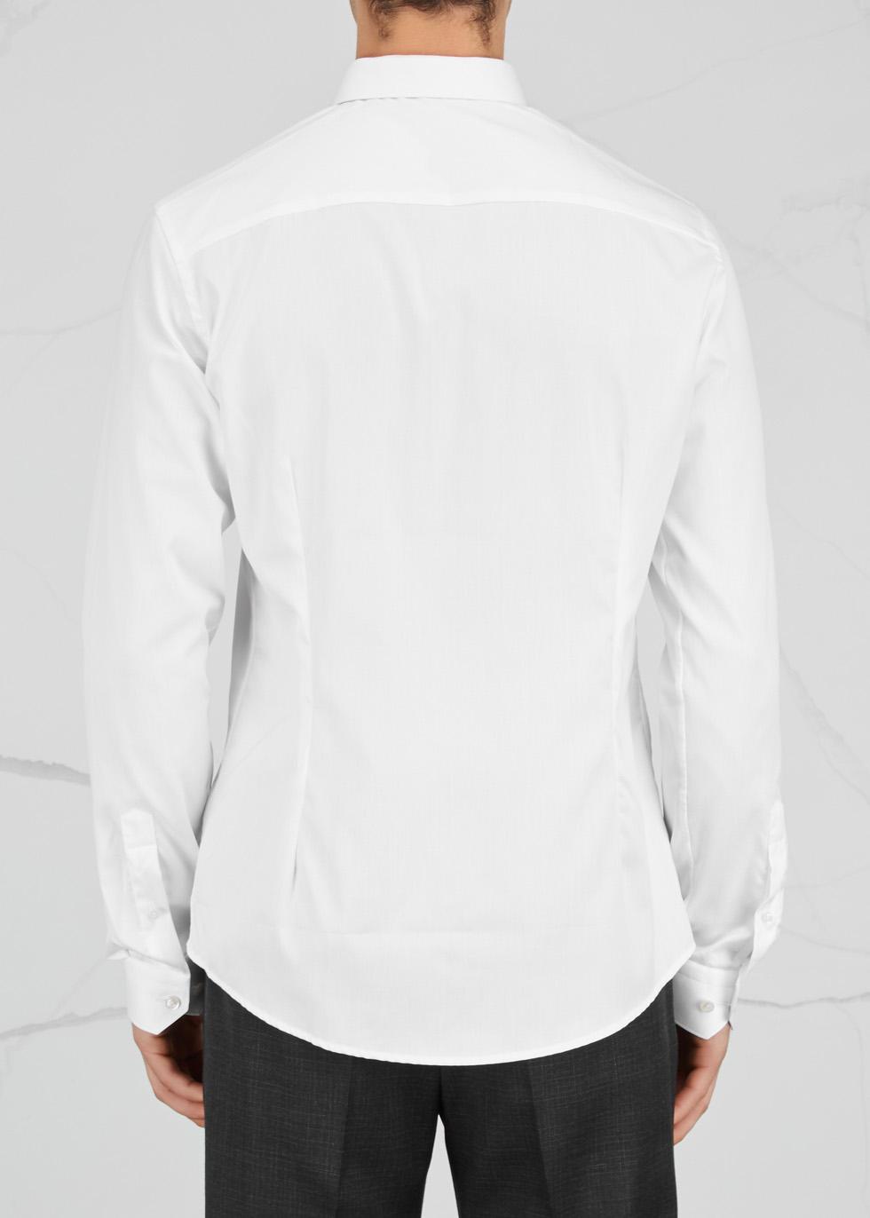 White super slim cotton twill shirt - Eton