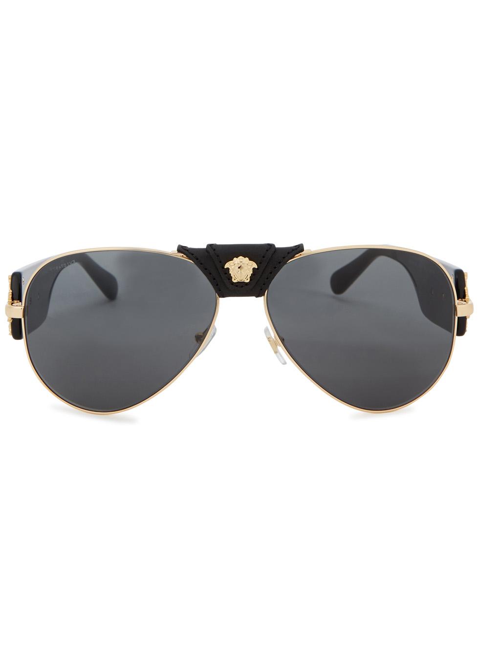 Gold-tone aviator-style sunglasses - Versace