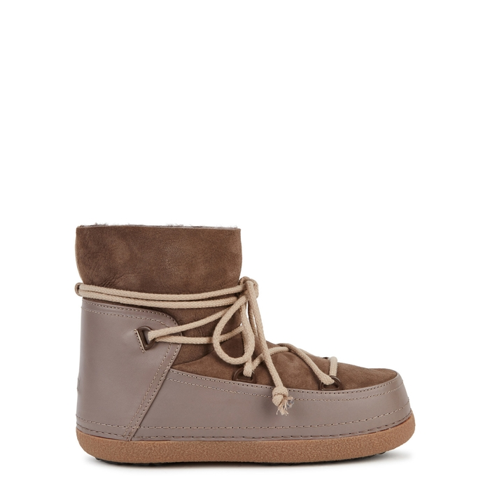 Inuikii TAUPE SHEARLING-LINED SUEDE BOOTS