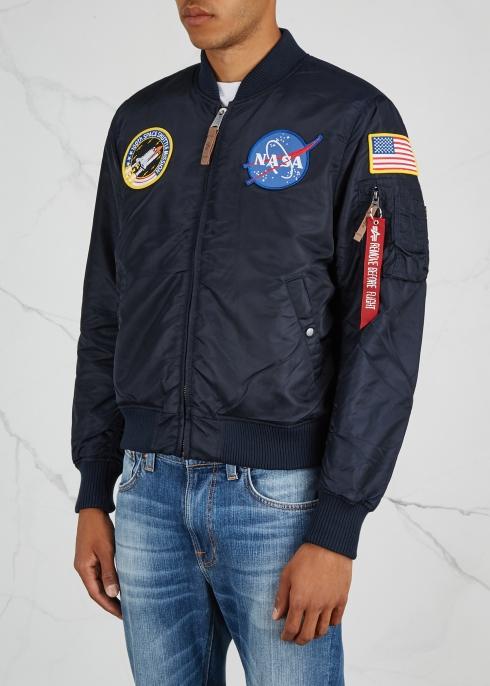 8c5ad2442703 Alpha Industries NASA MA-1 navy shell bomber jacket - Harvey Nichols