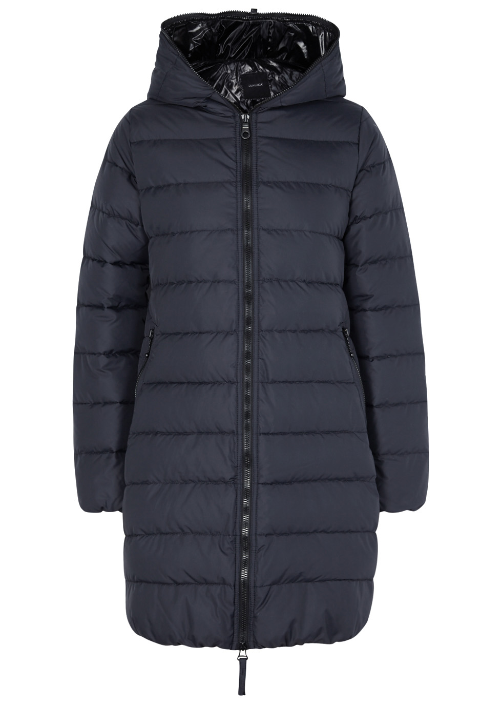 DUVETICA ACE NAVY QUILTED SHELL COAT
