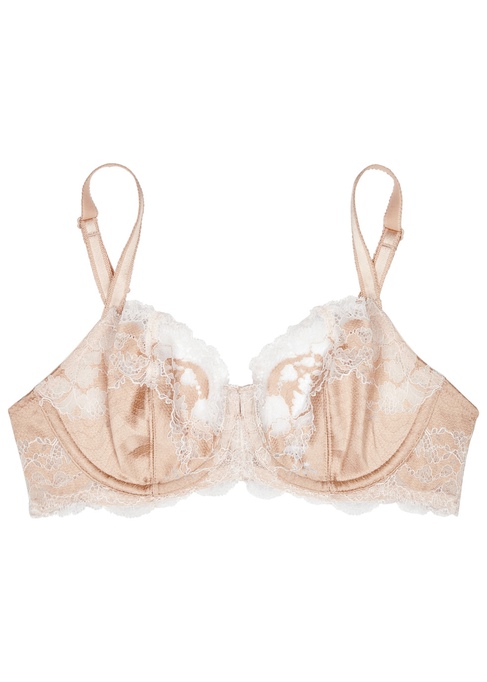 Lace Affair blush underwired bra
