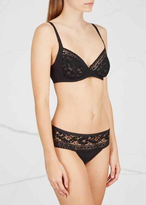 318c43134c90f Wacoal Eternal black full-cup bra - Harvey Nichols