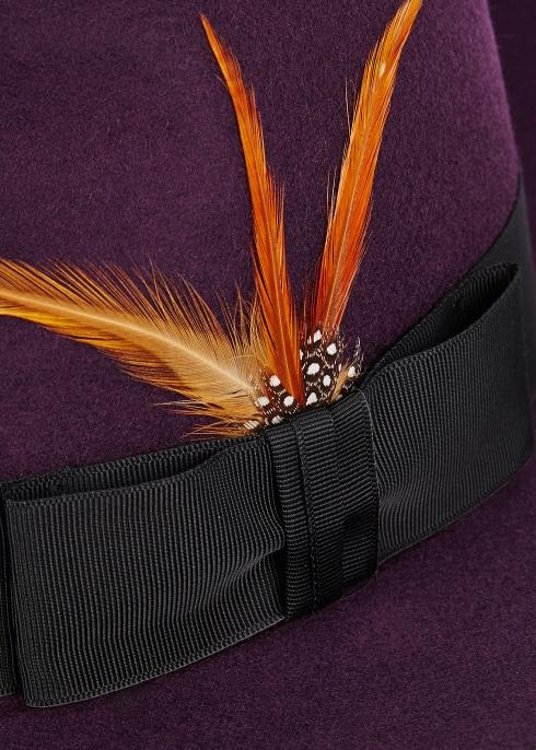 9443113018fd3 Christys  London Madison plum wool fedora - Harvey Nichols