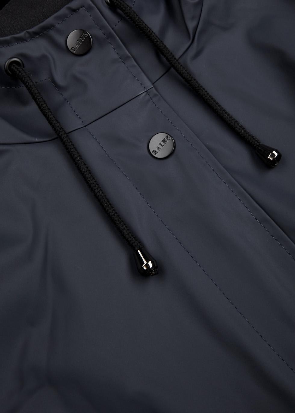 Curve navy rubberised raincoat - Rains