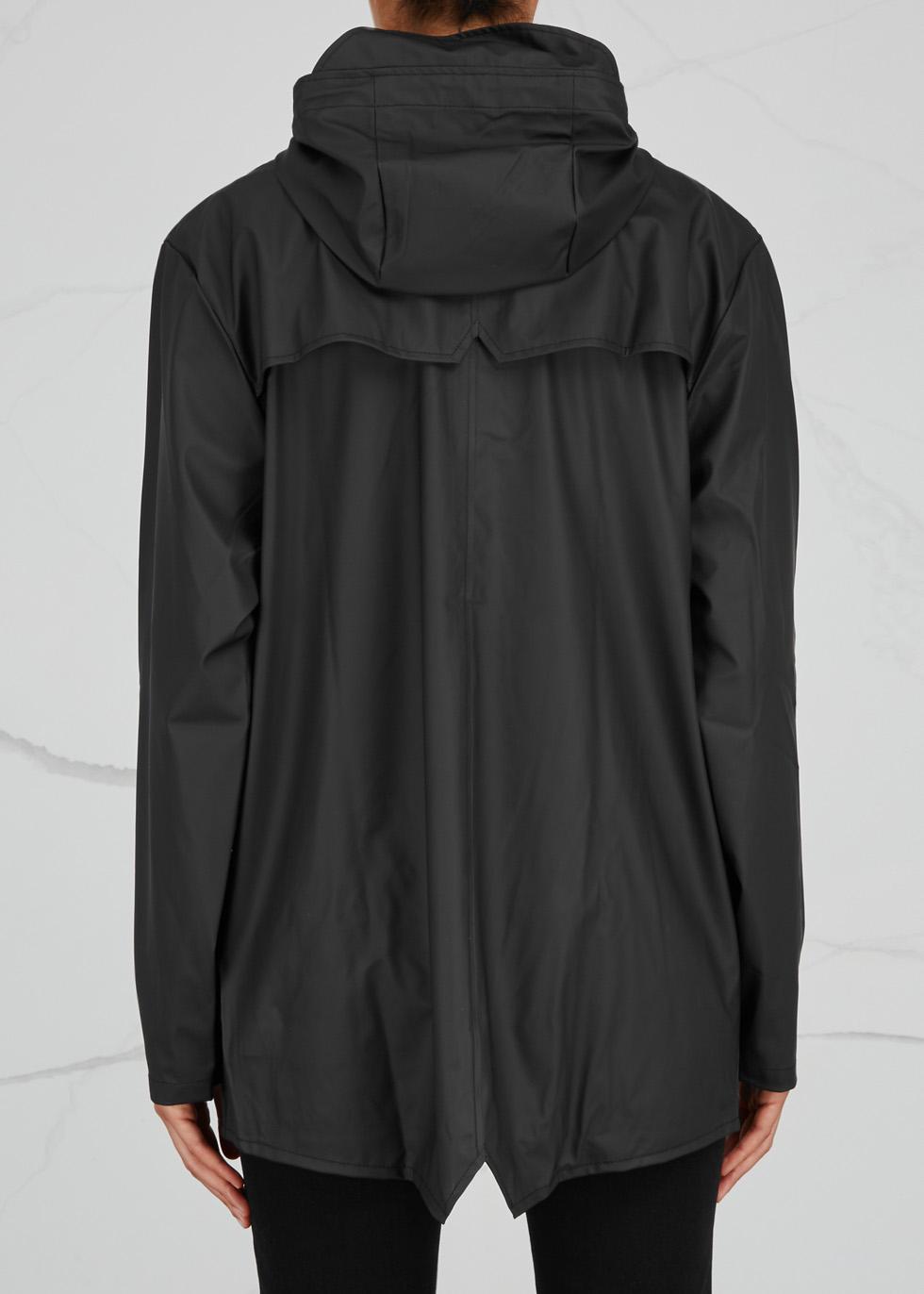 Black rubberised raincoat - Rains