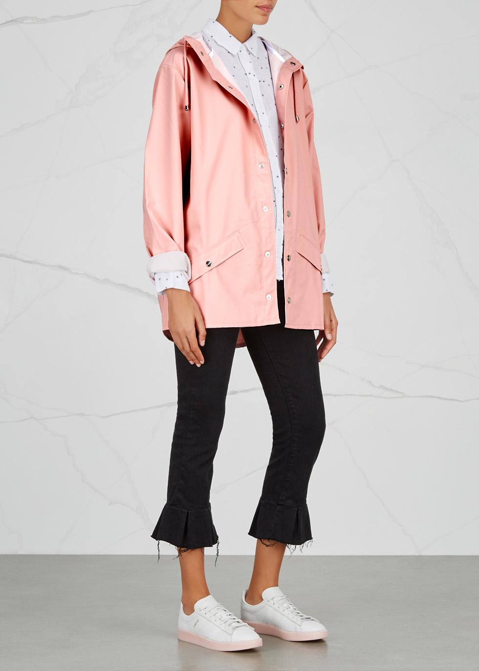 Light pink rubberised raincoat - Rains