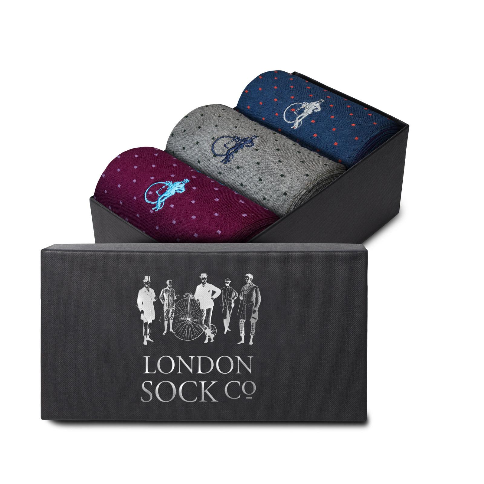 LONDON SOCK COMPANY MARTINA GIFT BOX - 3 PAIR