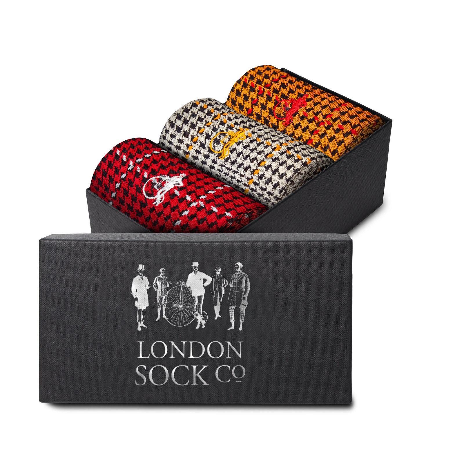LONDON SOCK COMPANY OTTAWAY GIFT BOX - 3 PAIR