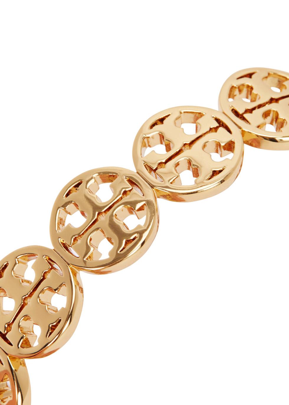Gold tone logo cuff - Tory Burch