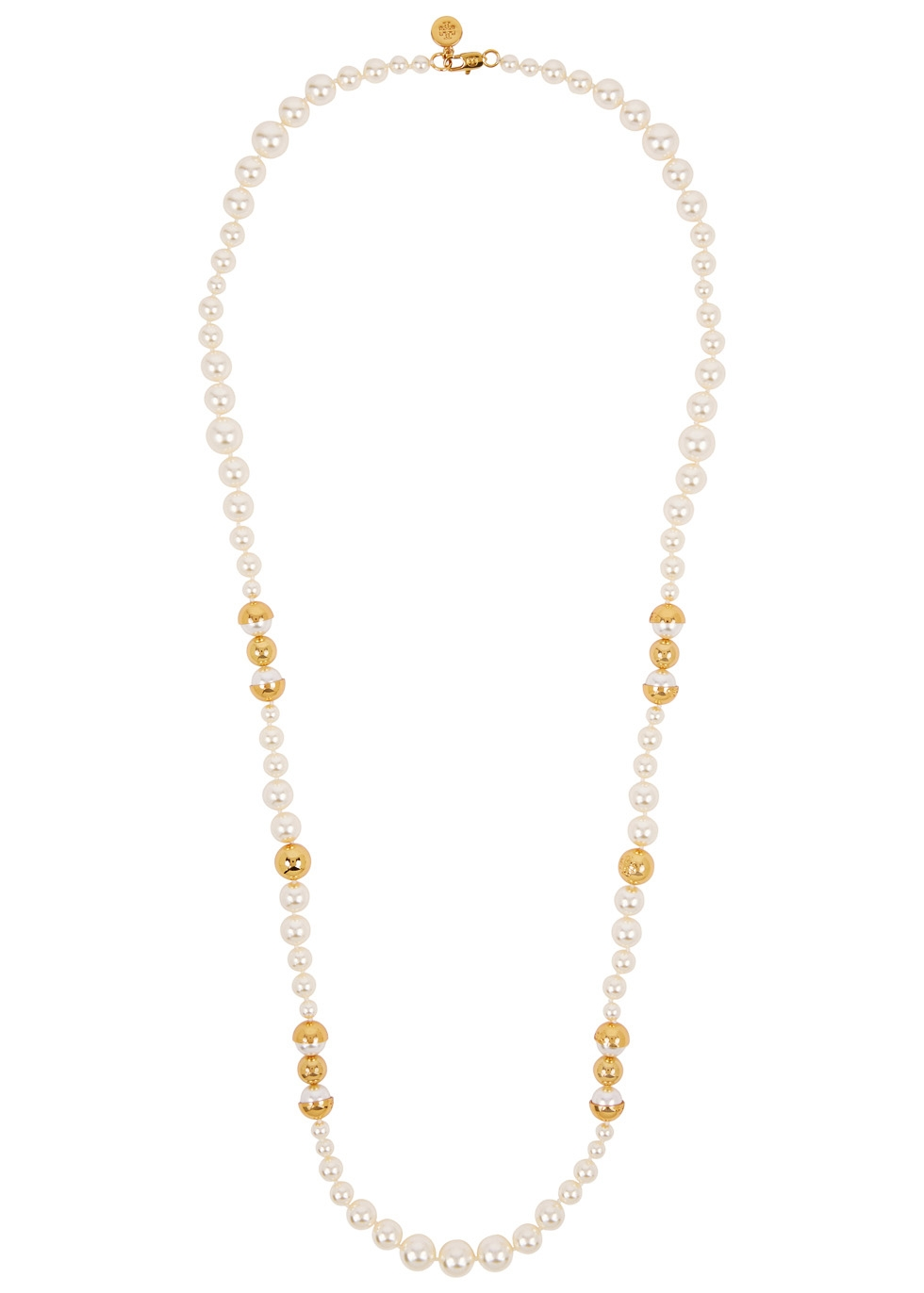 Swarovski faux pearl necklace - Tory Burch