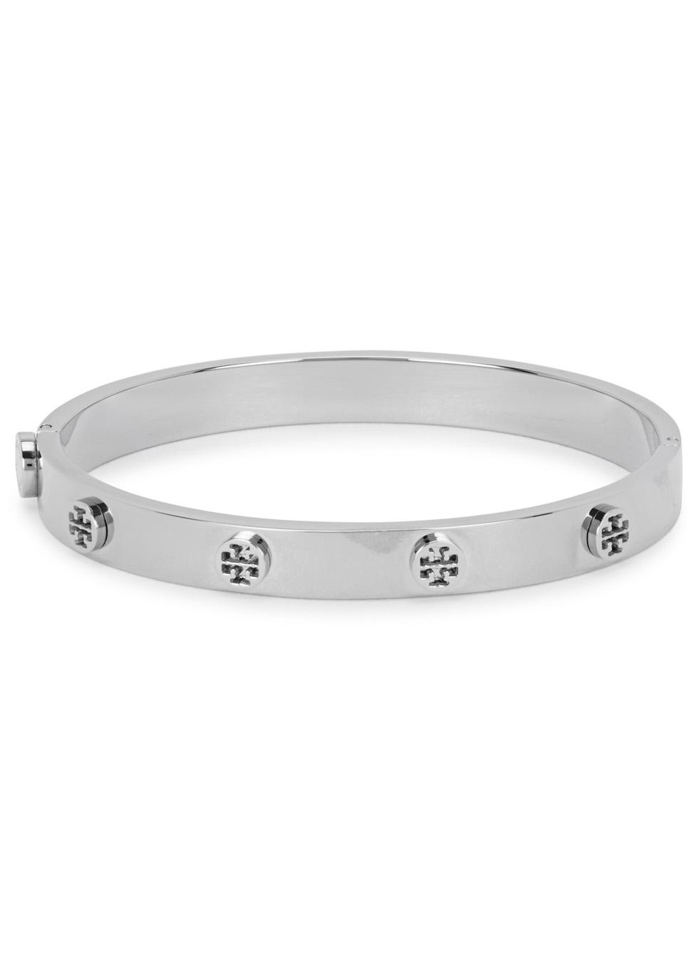 Silver tone logo bracelet - Tory Burch