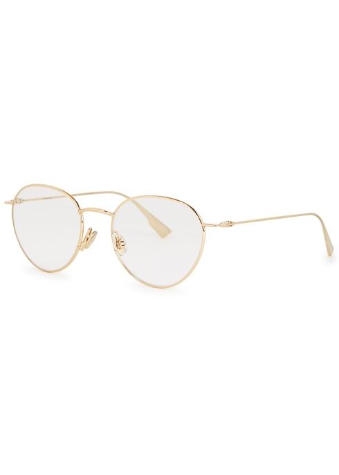 1a2bb95272d5f Dior DiorStellaire02 round-frame optical glasses - Harvey Nichols